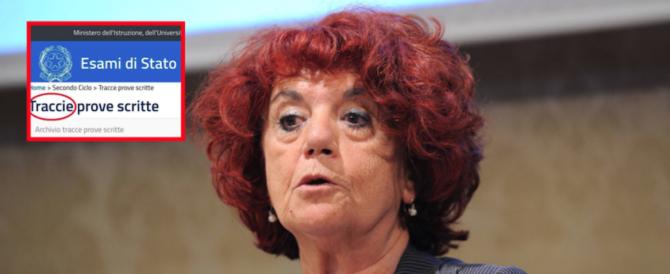 """L'ultima gaffe della Fedeli, ministro senza laurea. Clamoroso errore: """"Traccie"""""""