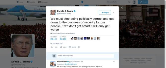 Trump: «Basta con il politically correct». E attacca il sindaco di Londra