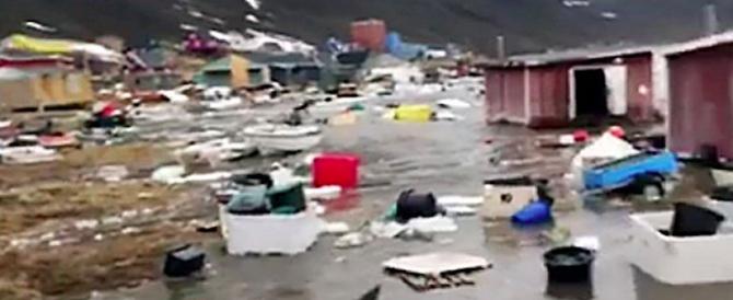 Tsunami in Groenlandia: le spettacolari immagini dell'impatto (VIDEO)