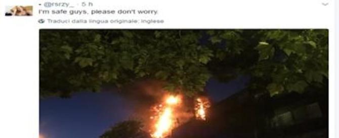 «Sono intrappolata…». Il drammatico tweet dal grattacielo di fuoco