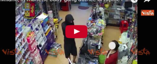 """In manette la baby gang autrice di rapine stile """"Arancia meccanica"""" (video)"""