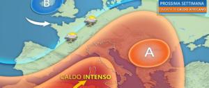 Meteo, in arrivo una nuova ondata di calore su tutta la nostra penisola