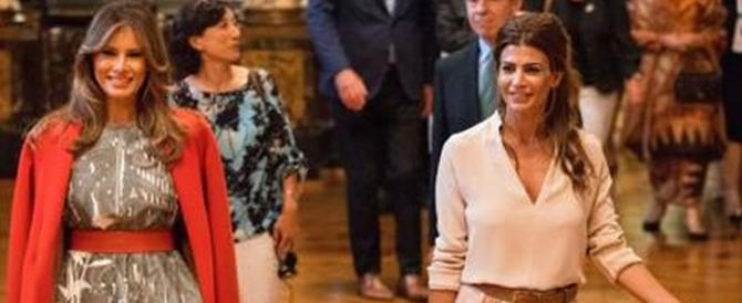 Juliana Awada, la first lady argentina conquista i fotografi di Amburgo