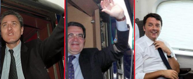 """Renzi attacca i nostalgici ma """"rispolvera"""" il treno che fece perdere Rutelli e Prodi"""