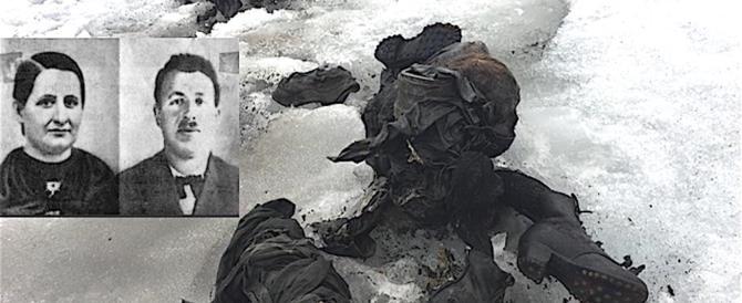 Il ghiacciaio restituisce i corpi di due coniugi scomparsi nel nulla 75 anni fa