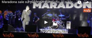 Maradona tra Piazza e Palazzo: tra ovazioni e polemiche ora è napoletano (VIDEO)