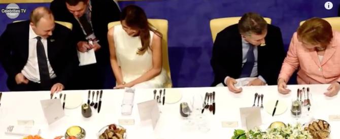 Melania ad Amburgo conquista tutti: Putin per primo. La conferma arriva da Twitter (VIDEO)
