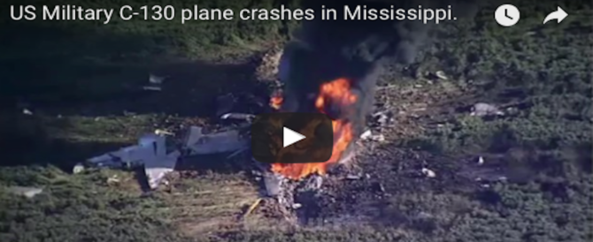 Mississippi, si schianta aereo militare: morti i 16 marines a bordo (2VIDEO)