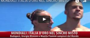 """Mondiali di Budapest, oro all'Italia """"buonista"""" nel nuoto sincronizzato (VIDEO)"""