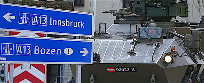 Clandestini, Vienna fa dietrofront a parole: i blindati sono già al Brennero
