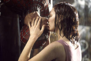 Il bacio di Spiderman e Mary Jane