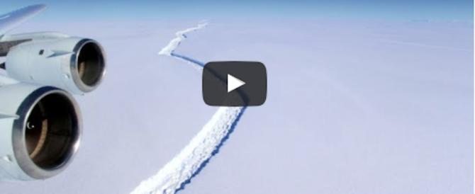 Un iceberg grande quanto la Liguria si è staccato dall'Antartide (video)