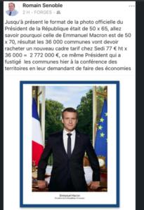 Per la nuova foto di Macron cambio di cornici per tutti i comuni francesi