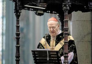 il cardinale di Colonia, Joachim Meisner, grande elettore di Ratzinger