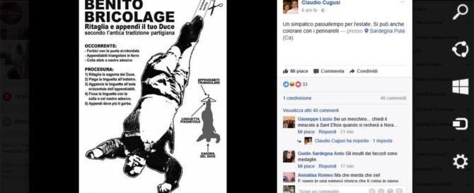Ritaglia il Duce e appendilo a testa in giù: l'ultimo giochino dell'antifascismo trash