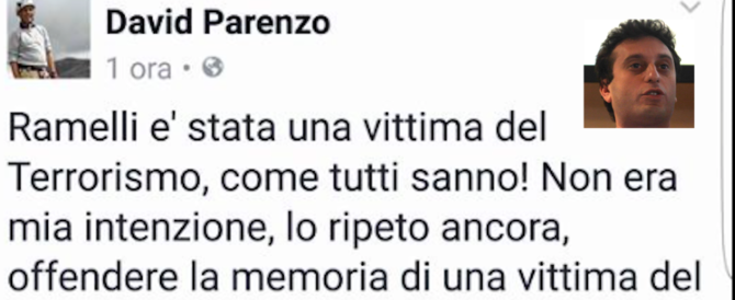 """""""Ramelli terrorista"""". David Parenzo si scusa dopo la gaffe alla Zanzara (video)"""
