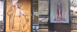"""Roma, manifesti blasfemi alle fermate del bus. L'Atac: """"Non siamo stati noi"""""""