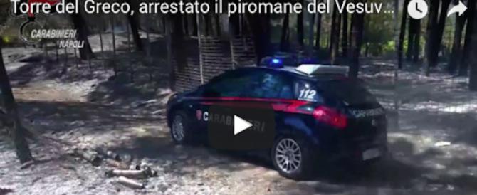 Arrestato il piromane del Parco del Vesuvio, un 24enne di Torre del Greco (video)