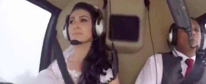 Elicottero precipita con la sposa a bordo: la scena dello schianto (VIDEO)