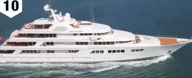 Nel Golfo di Napoli l'Ocean Victory, uno dei 10 yacht più grandi del mondo (video)