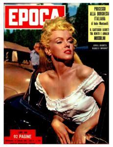 Una copertina di un rotocalco italiano rende omaggio alla bellezza di Marylin