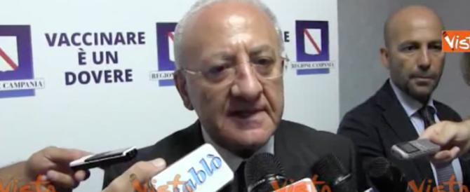 """De Luca contro i media: """"Il Cardarelli è il miglior ospedale d'Italia. Querelo tutti"""" (video)"""