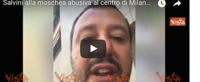 """Salvini, blitz alla moschea abusiva: """"Va chiusa. Residenti preoccupati"""" (video)"""