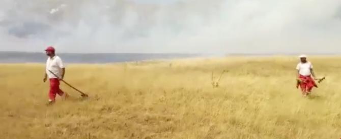 Domato l'incendio a Campo Imperatore, ora brucia Rigopiano (video)