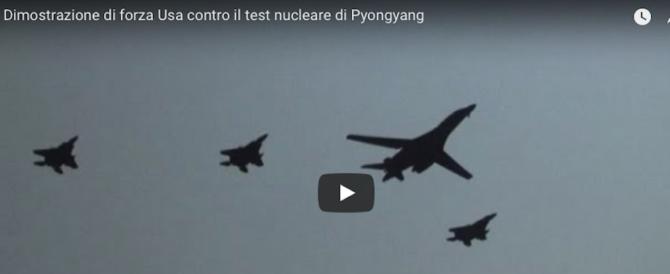 L'America mostra i muscoli a Kim jong-un: caccia e bombardieri Usa in volo sulla Corea (VIDEO)