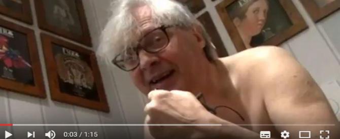 Sgarbi appare nudo in un video su Fb contro il sindaco di Francavilla: il post è virale (VIDEO)