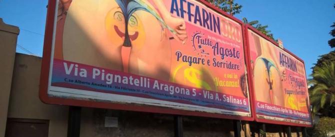 """""""È pubblicità sessista"""". A Palermo un cartellone pubblicitario diventa caso politico"""