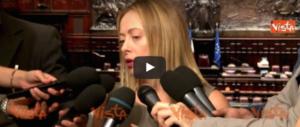 Meloni chiude la partita su Alfano: «Imbarcarlo sarebbe imbarazzante» (video)