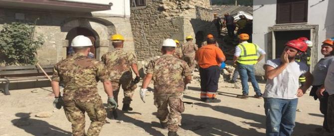 Terremoto Centro Italia, ora il governo manda i militari a togliere le macerie