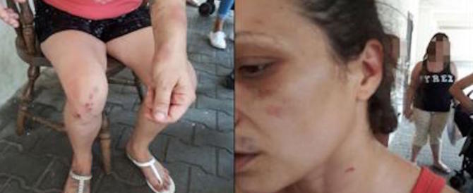 Fu aggredita dai migranti al Tiburtino III: beccata a rubare al supermercato