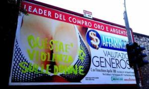L'altra pubblicità controversa del Compro oro palermitano