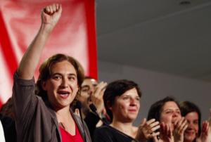 La sindaca di Barcellona, Ada Colau