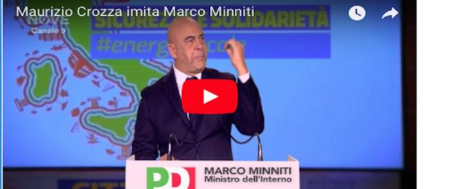 """Crozza torna in tv e imita Minniti: """"Il Pd non può lasciare il fascismo ai fascisti"""" (video)"""