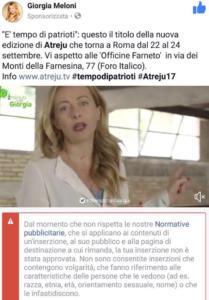 Follia, censurata Giorgia Meloni
