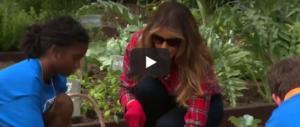 Melania, altro che Michelle Obama: la first lady apre l'orto della Casa Bianca ai ragazzi (VIDEO)