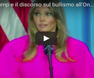 """Melania Trump denuncia il bullismo ma scatta il """"linciaggio"""" per il fucsia (video)"""