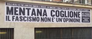"""Mentana a CasaPound: spunta uno striscione minaccioso dei """"partigiani"""""""