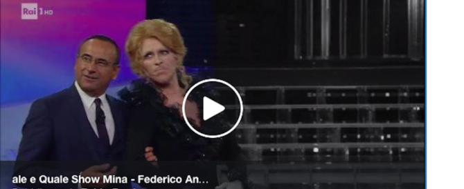 """Torna Mina in tv. Ma è Angelucci: ovazione a """"Tale e Quale Show"""" (video)"""