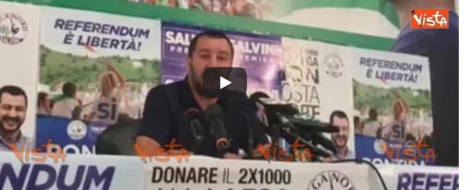 Salvini: «Contro di noi un esproprio proletario dei giudici» (video)