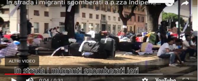 Presidi e bivacchi, Roma affossata dai migranti: la Raggi s'aggrappa a forti e caserme (VIDEO)