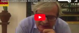 Sgarbi infuriato con la Boldrini: ora basta offendere la nostra civiltà. La denuncio (VIDEO)