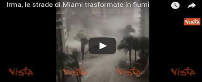 Irma in Florida, l'oceano si ritira e le strade diventano fiumi: in 5 mln senza corrente (2 VIDEO)
