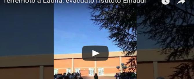 Terremoto a Latina, scossa lieve ma tanta paura. Panico in strada, scuole evacuate (VIDEO)