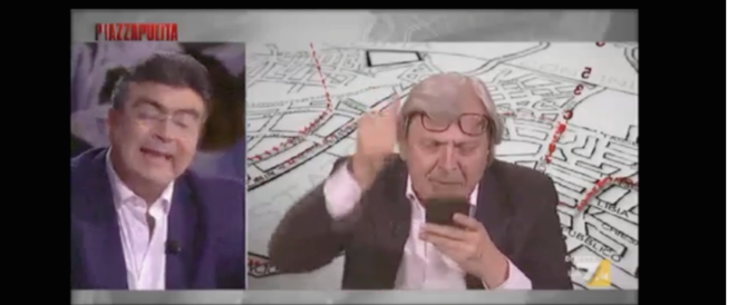 Sgarbi disintegra Vauro e legge Fiano: «Voi orgogliosi dei crimini comunisti» (VIDEO)
