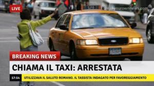 TAXI SALUTO ROMANO