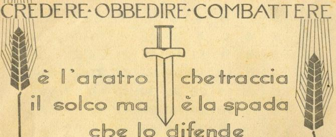 """L'Anpi a caccia di scritte fasciste: ora tocca a """"Credere, obbedire, combattere"""""""